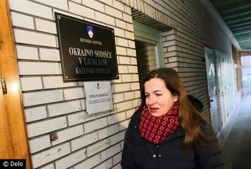 Anuška Delić pred sudom u Ljubljani